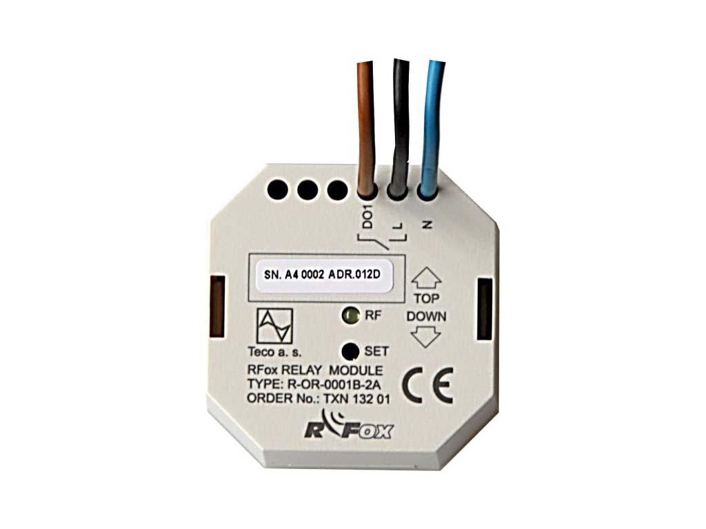 R-OR-0001B; RFox, 1x výstup relé, spínací kontakt, BOX, 230 V AC