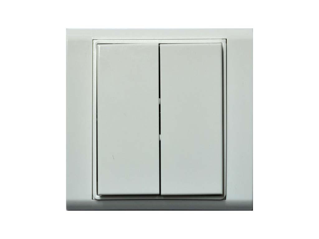 R-WS-0400R-Time; bílá/bílá, RFox, Ovladač s krátkocestným ovládáním, 4 tlačítka, komplet